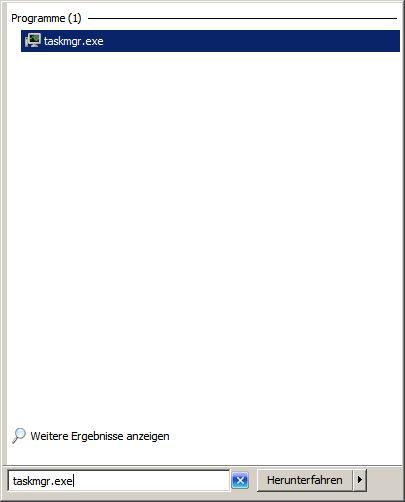 windows 7 task manager zuruecksetzen