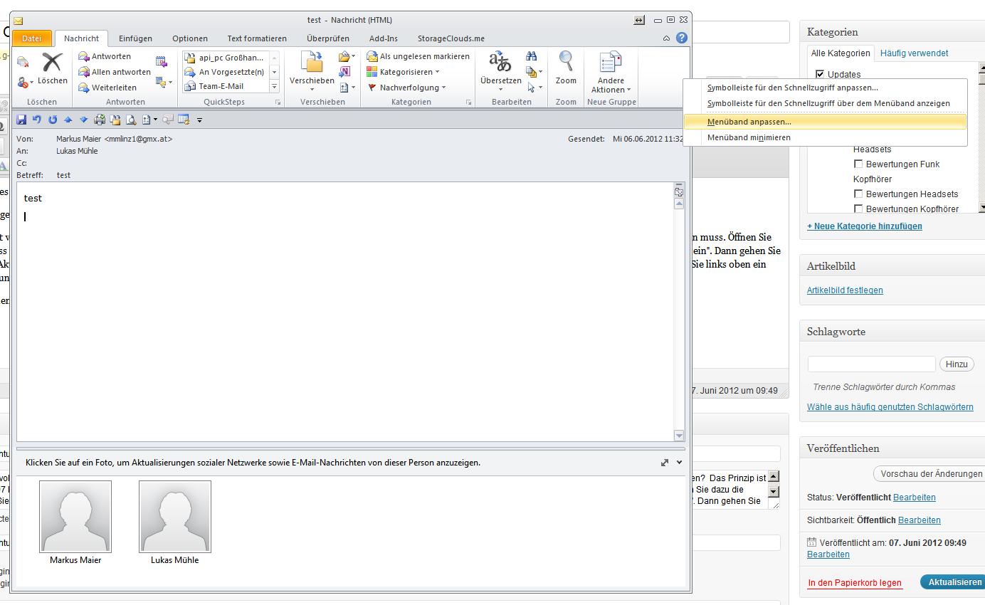 Html Mail Quelltextbetrachtung In Outlook 2012 Computer