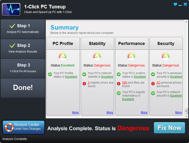 1 Click PC Tune up