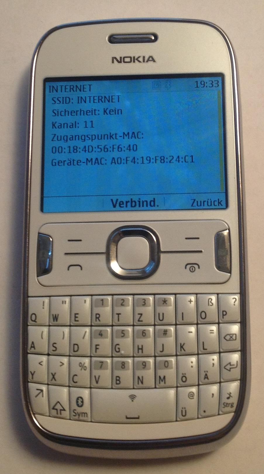 Nokia Asha 302 MAC Adresse Auslesen (1)