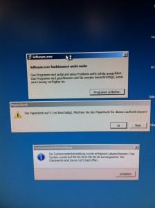Fehler nach der Systemwiederherstllung Windows 7