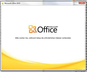 office setup wird gestartet