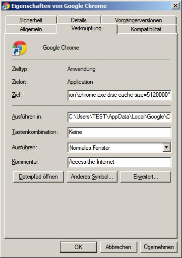 chrome-cache-erweitern