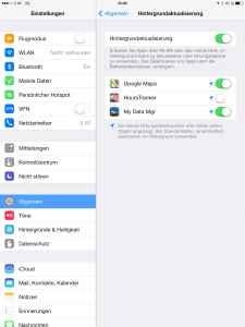apple ios7 ipad iphone akku sparen