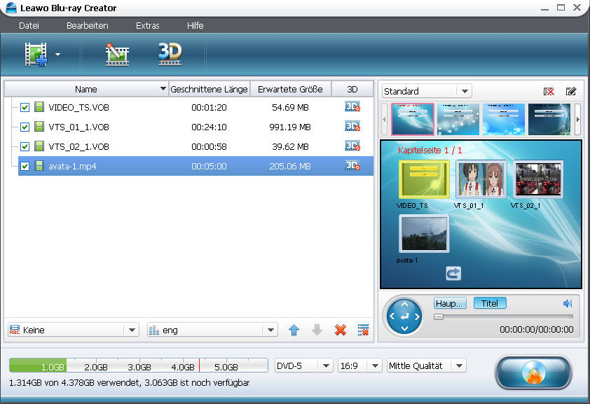 Download Leawo Blu-Ray Creator