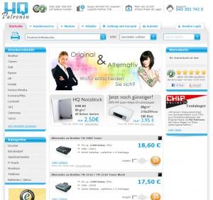 HQ-Patronen-Webseite