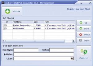 TXT2EPUB Converter
