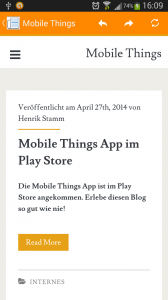 Mobile Things - Technik Blog