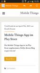 Mobile Things - Technik Blog